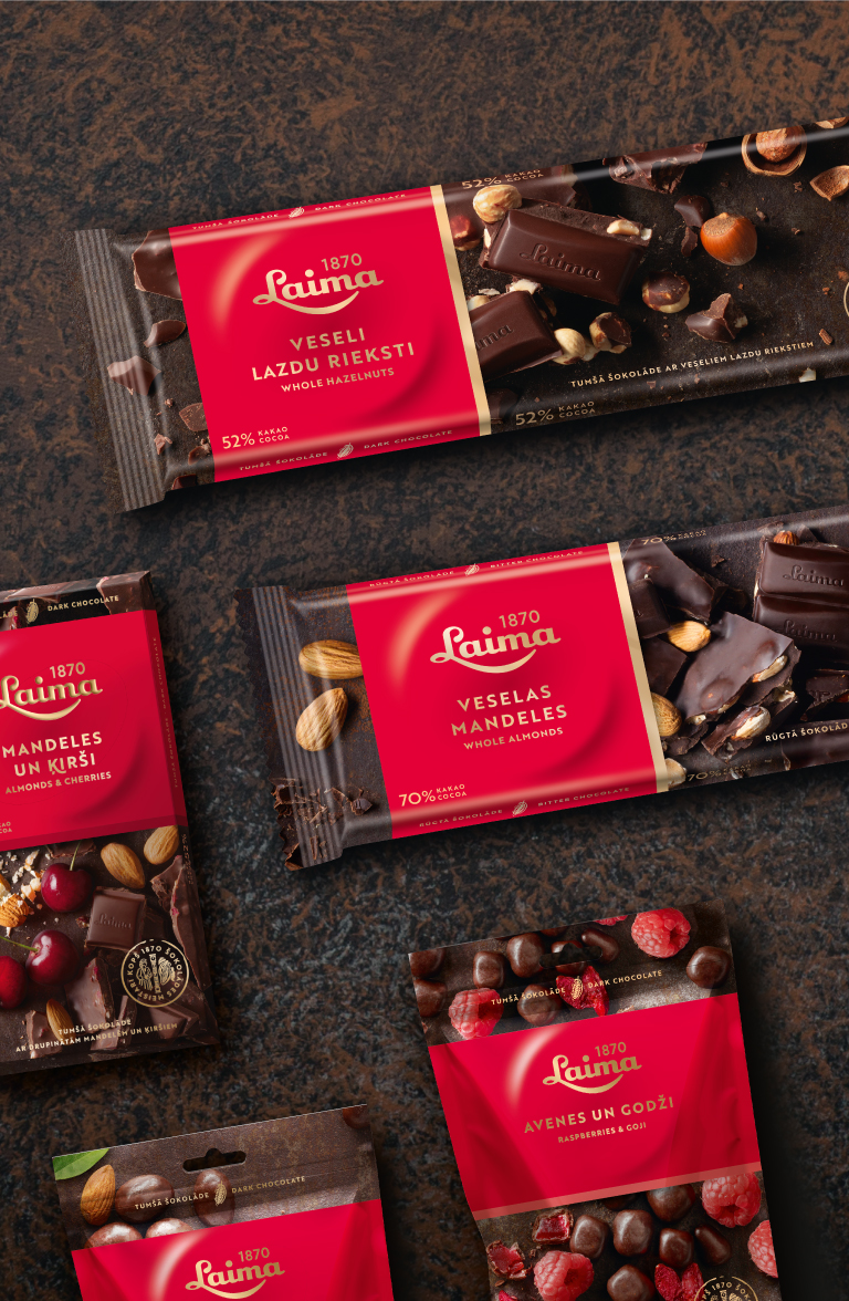 Laima Dark chocolate - packaging design