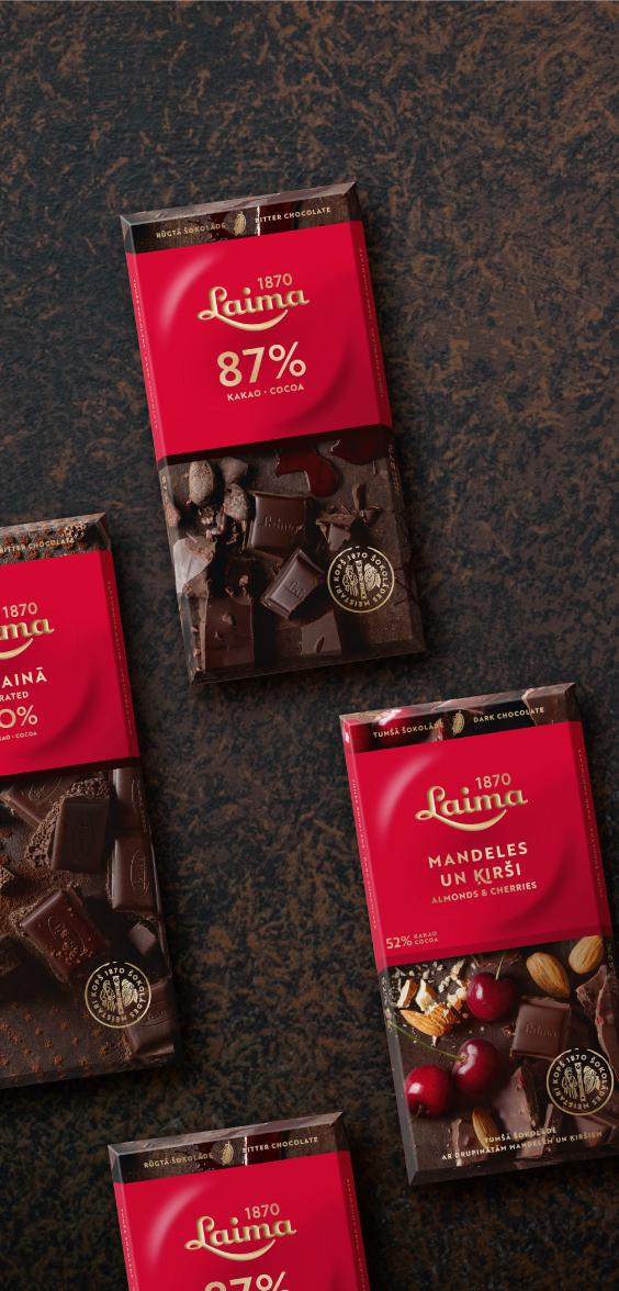 Laima Dark chocolate - packaging design