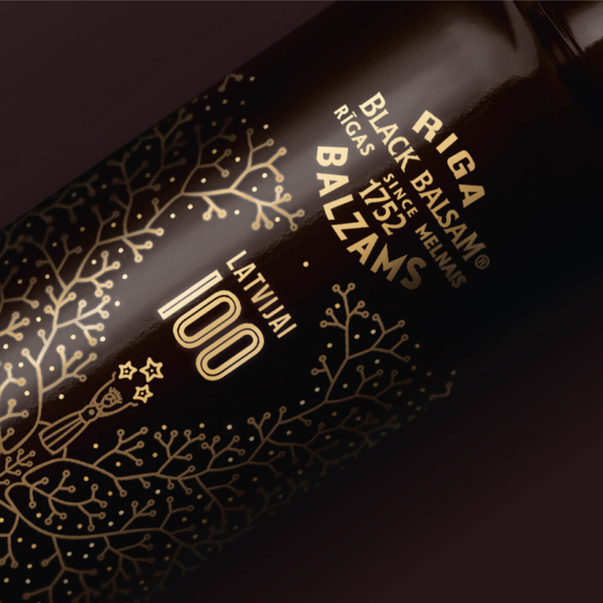 Riga Black Balsam LV100 - packaging design
