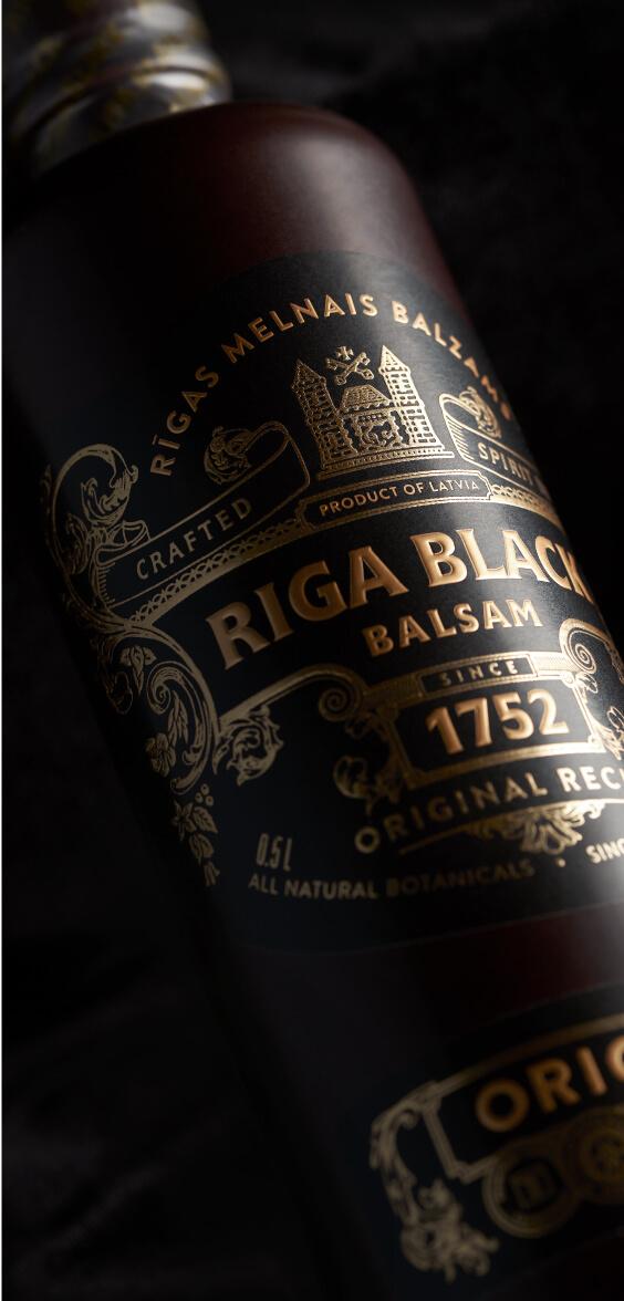 Riga Black Balsam - label design