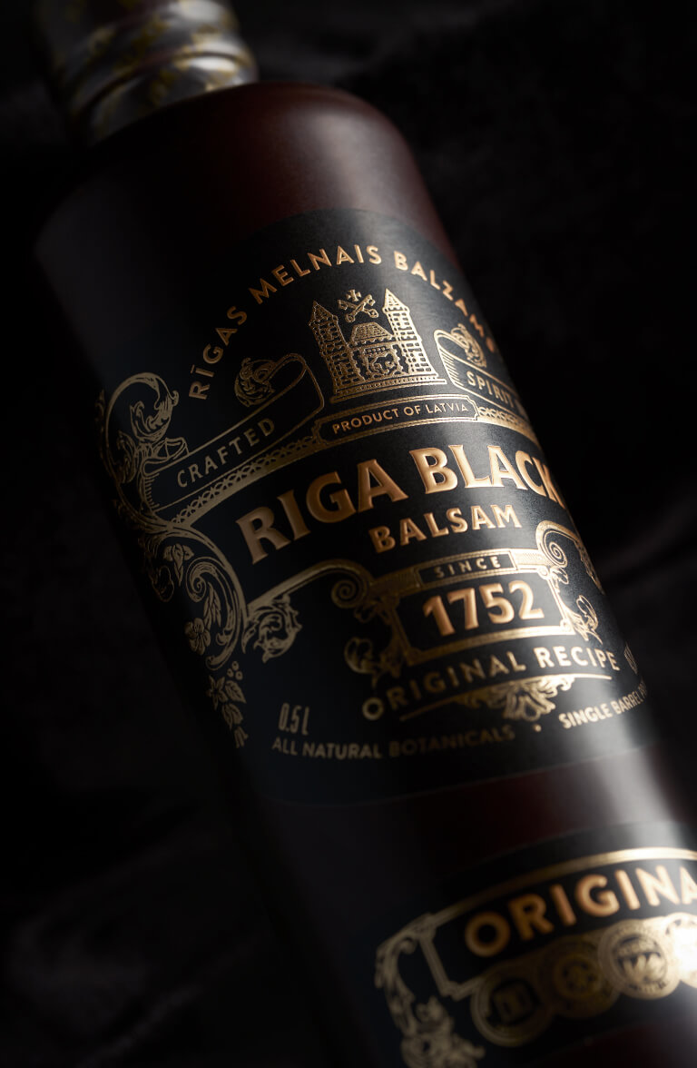 Riga Black Balsam - label design