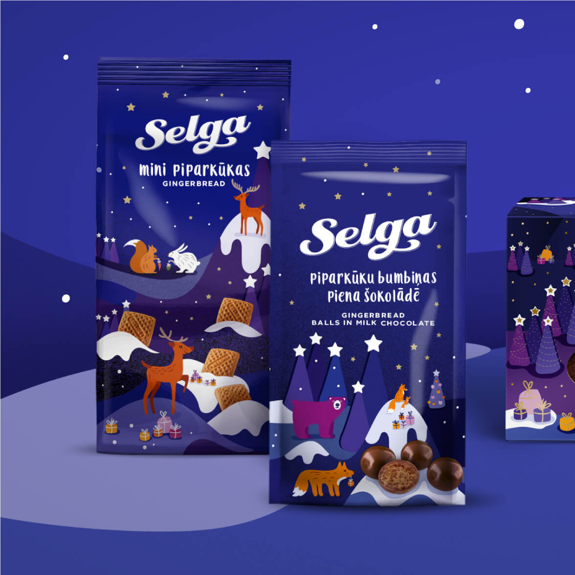 Selga Christmas 2018 - packaging design