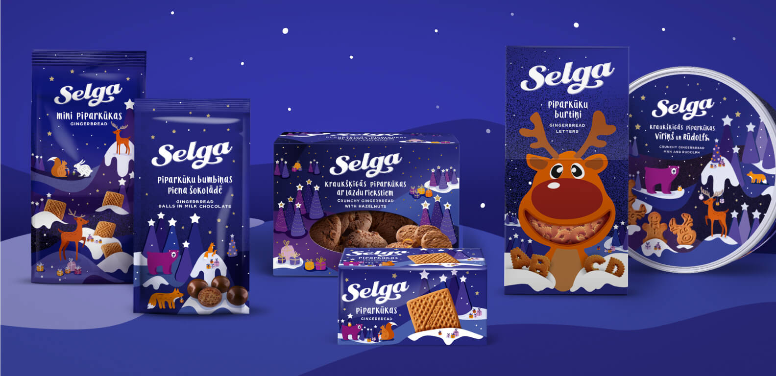 Selga Christmas 2018 - packaging design