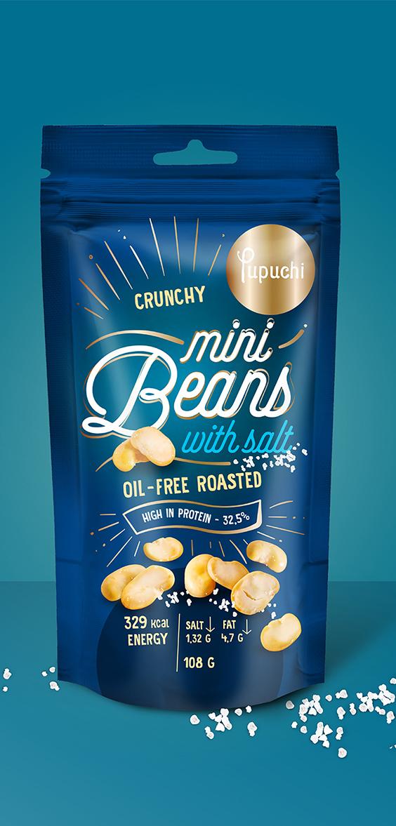 Pupuchi Mini Beans - packaging design