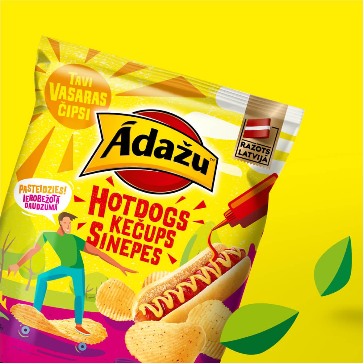 Ādažu Summer chips - packaging design