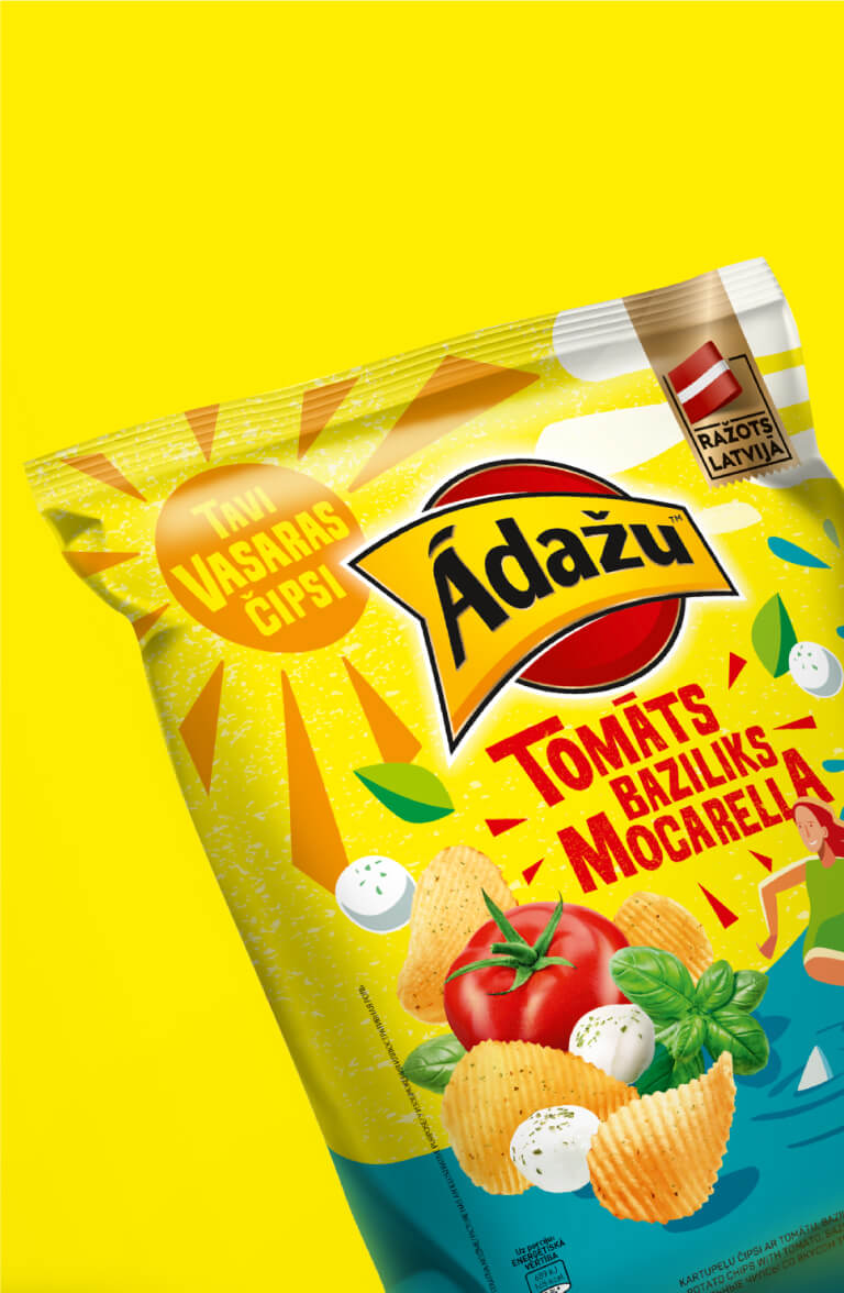 Ādažu Summer chips - packaging design