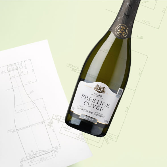 Sparkling wines - design of the bottle