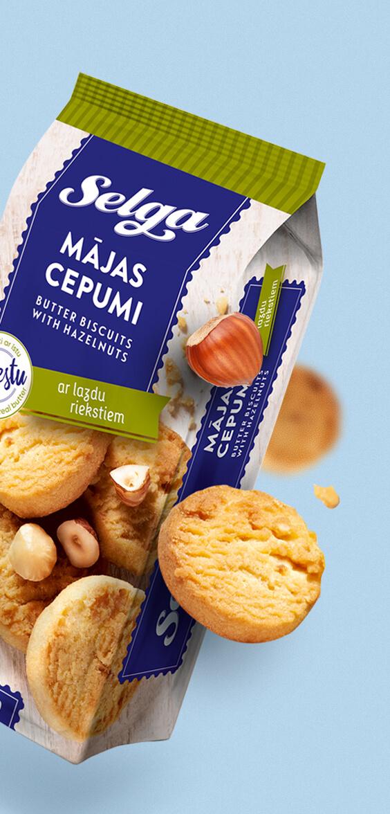 Selga biscuits Mājas - packaging design