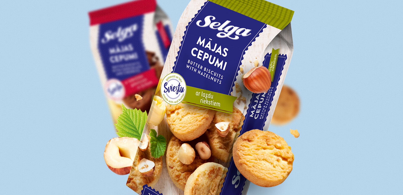 Selga biscuits Mājas - packaging design