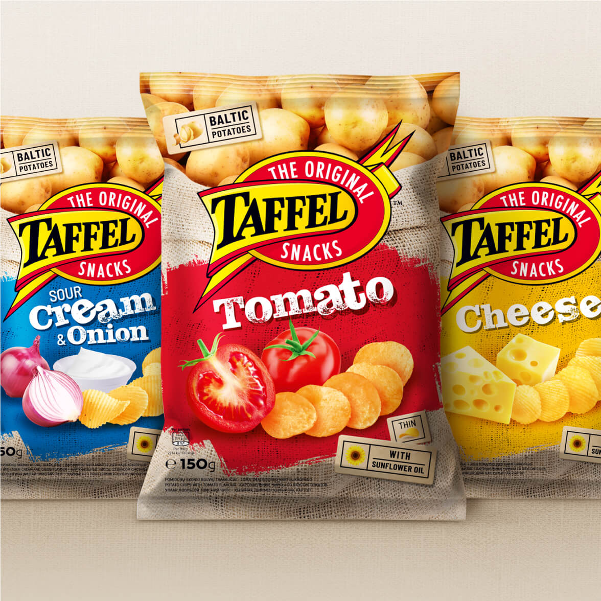 Taffel Chips - packaging redesign