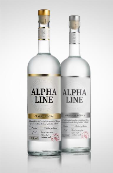 Alpha Line - label design