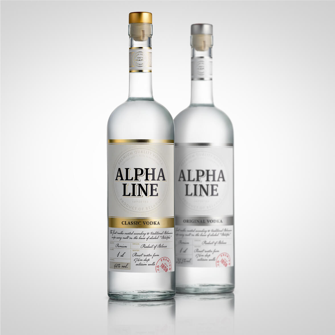 Alpha Line - label design