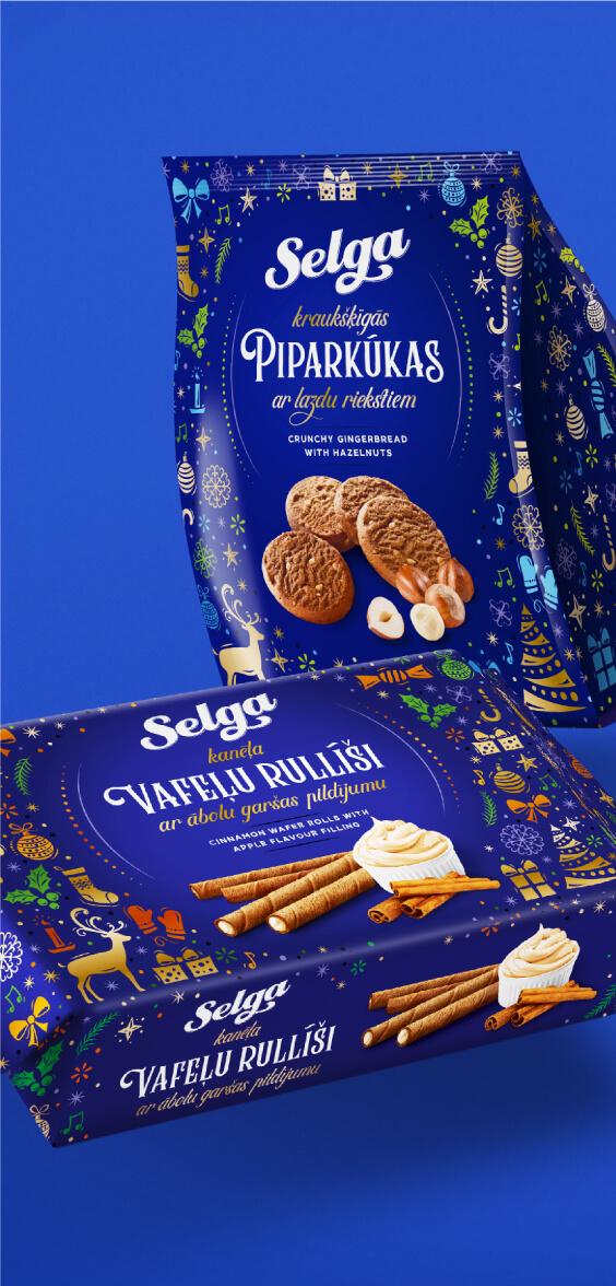 Selga Christmas 2019 - packaging design