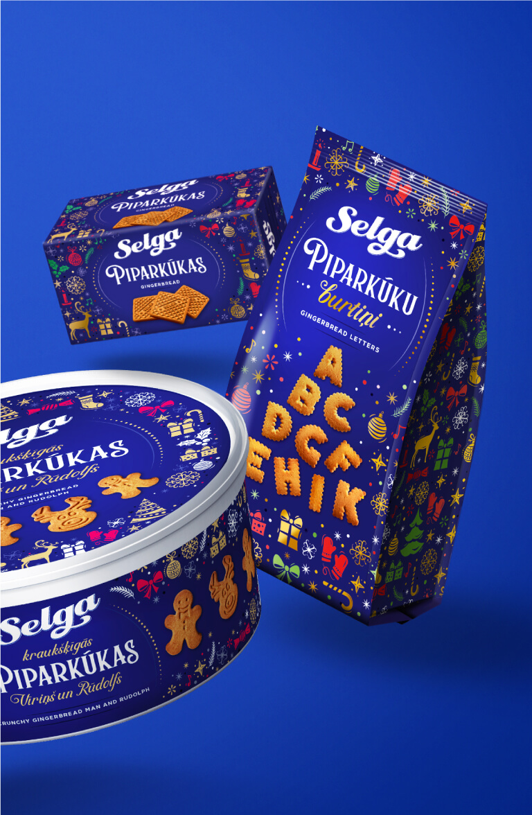 Selga Christmas 2019 - packaging design