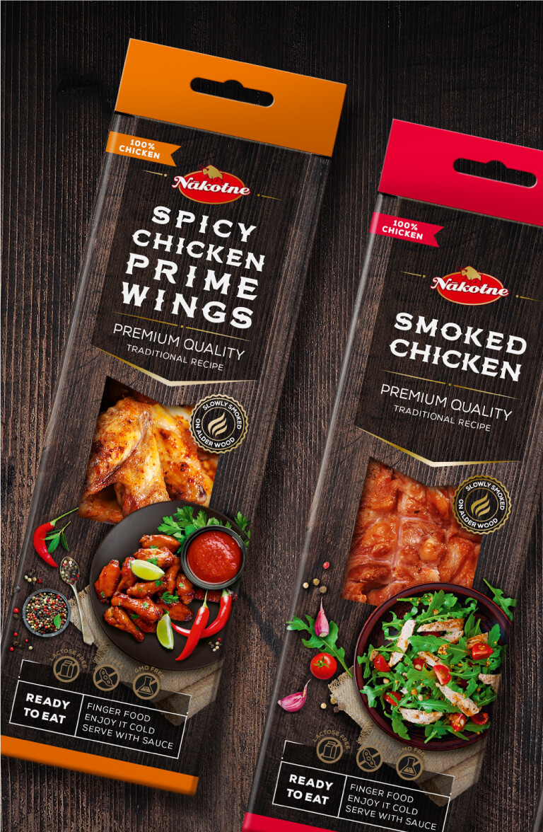 Nākotne Chicken produkt line - packaging design