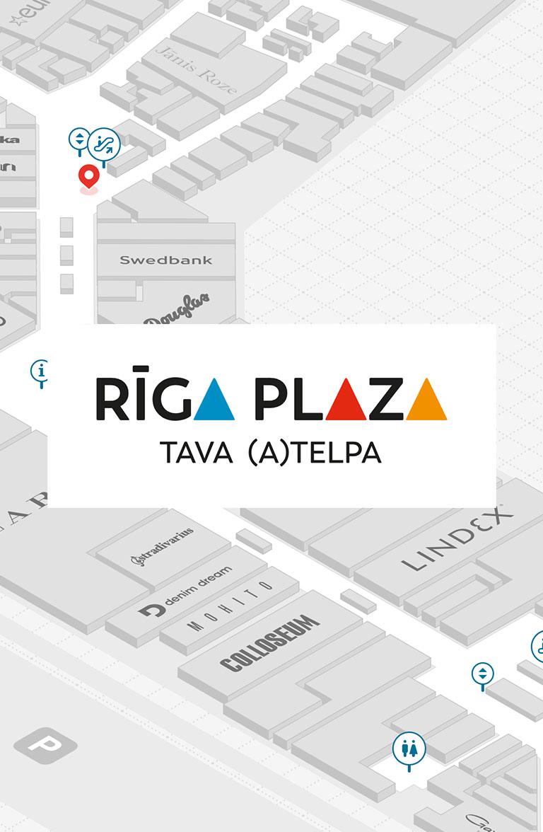 Riga Plaza - interactive stand