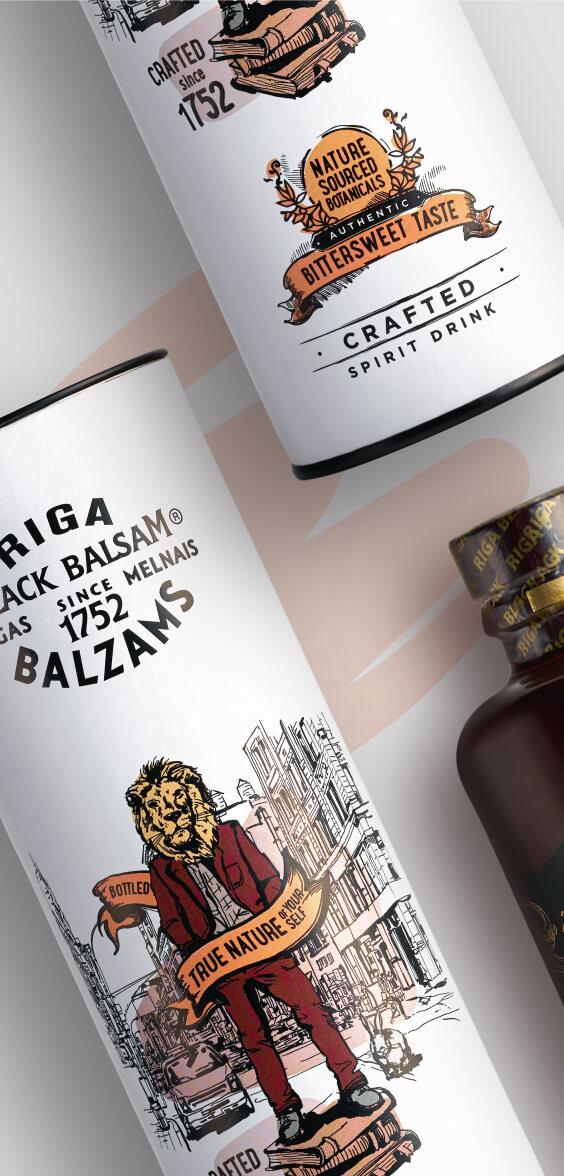 Riga Black Balsam - gift package design