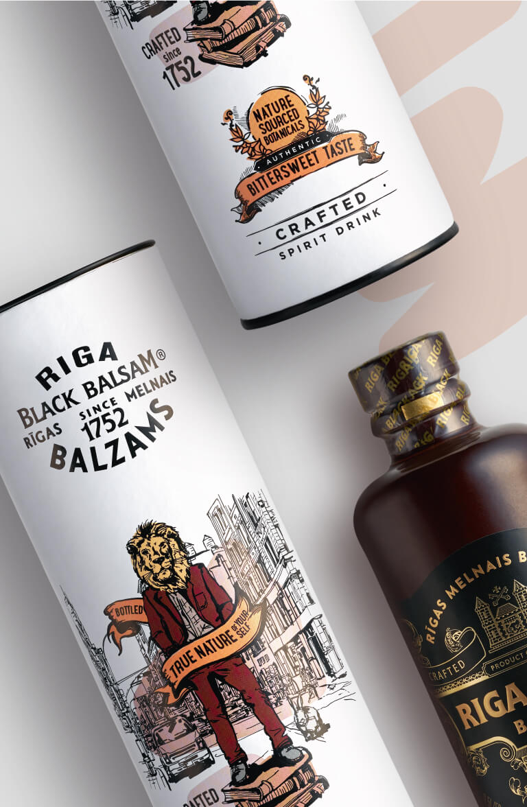 Riga Black Balsam - gift package design