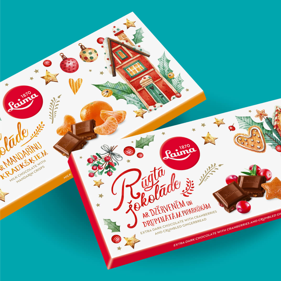 Laimas Christmas 2019 - packaging design