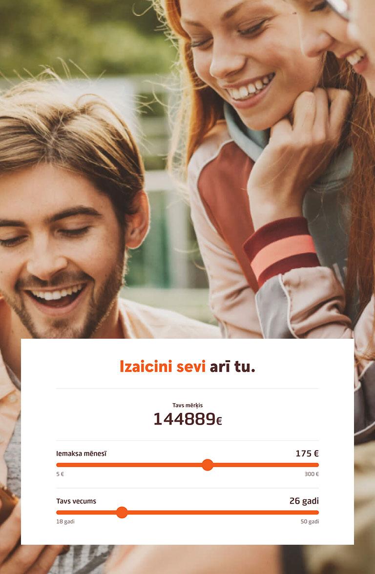 Swedbank Veselais saprāts - landing page