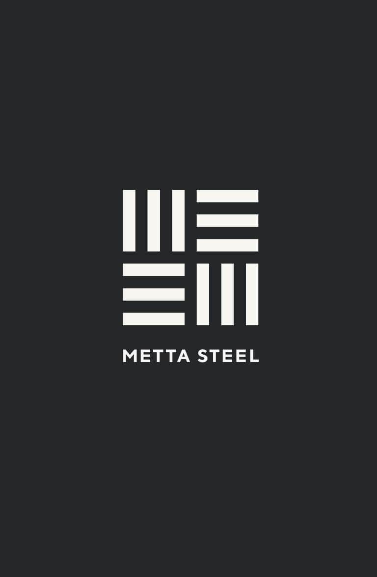 Metta Steel - brand identity