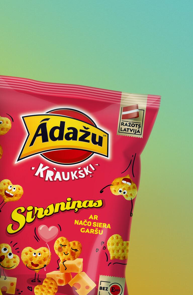 Ādažu Crackers - packaging redesign