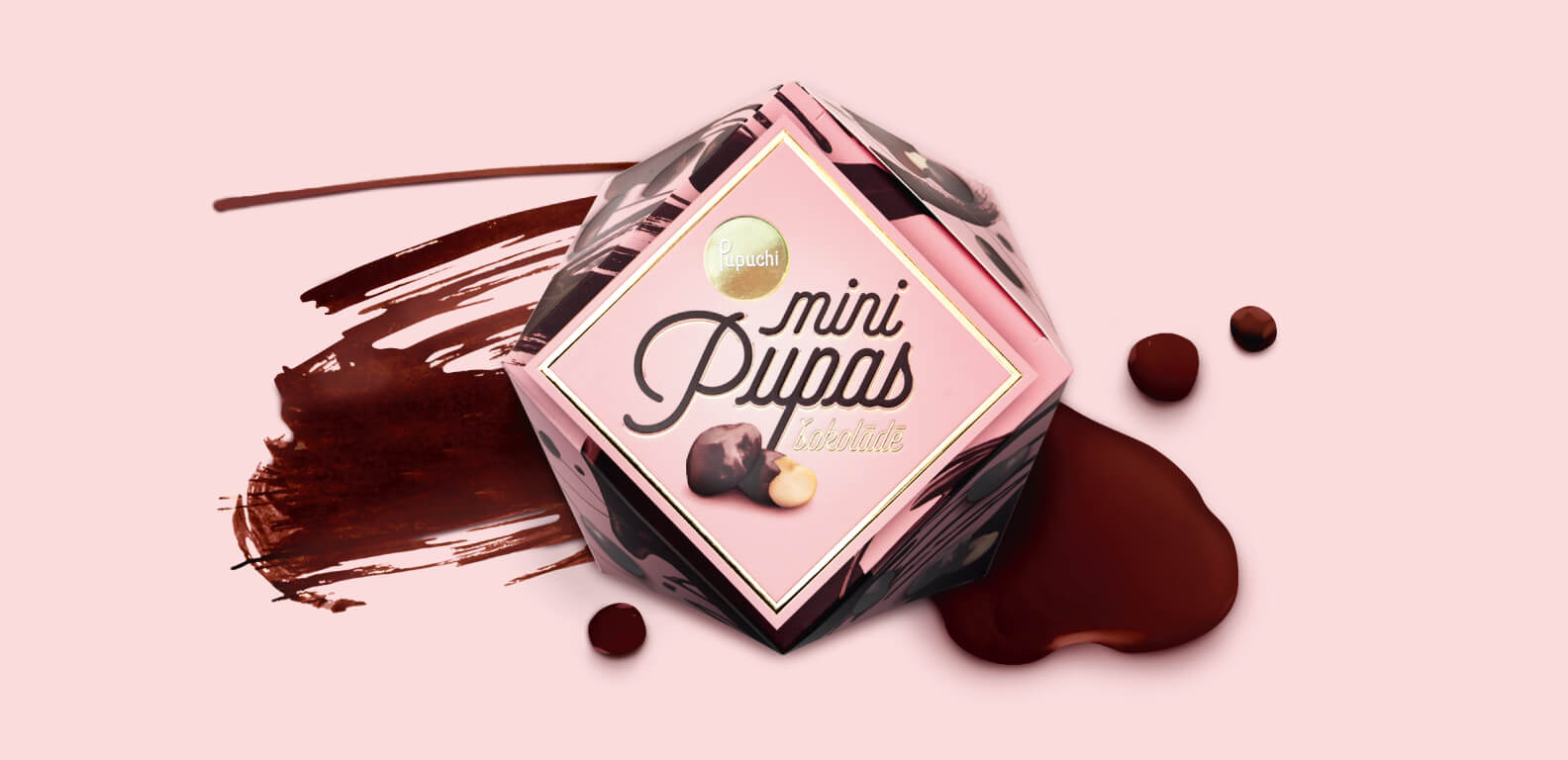 Pupuchi Mini beans in chocolate - packaging design