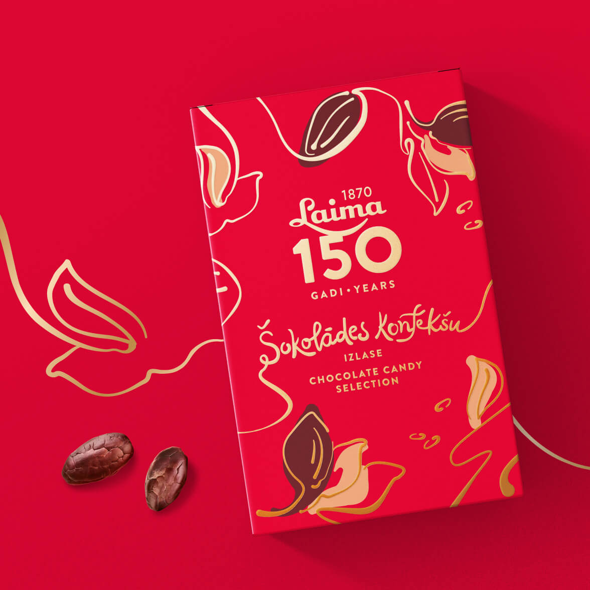 Laima's 150th anniversary collection - packaging design