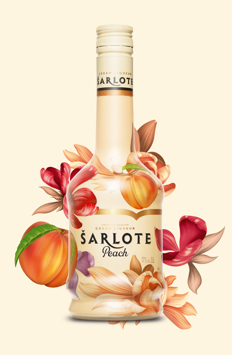 Šarlote Peach - label design