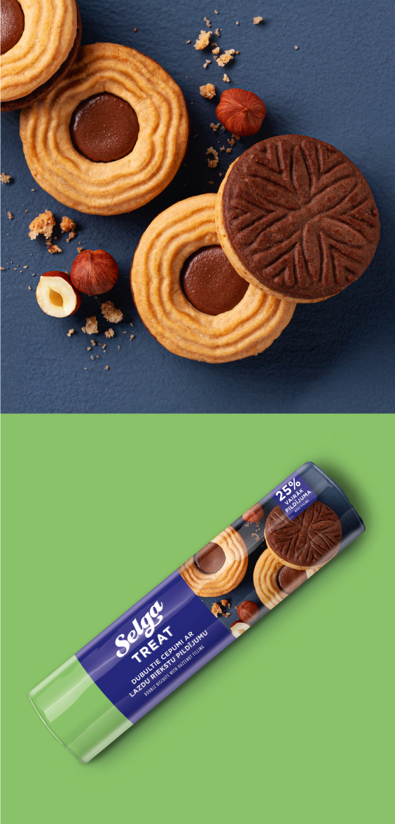 Selga Treat packaging design